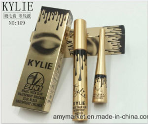 Kylie 2 in 1 Magic Thick Slim Waterproof Mascara Cool Black Waterproof Eyeliner Cosmetic Eye Liner pictures & photos