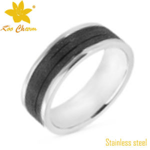 Str-009 Two-Tone Color Stainless Steel Wedding Band pictures & photos
