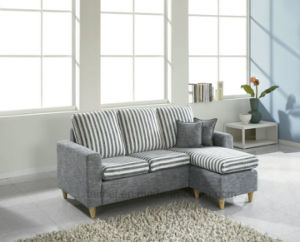 Modern Small L Shape Sectional Fabric Sofa (corner sofa) pictures & photos