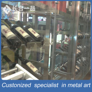 Customized Stainless Steel Silver Wine Racky for Chateau/Supermarket pictures & photos
