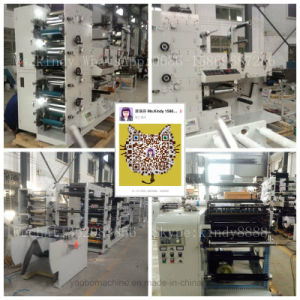 Ybs Label Logo Flexo Printing Machine with Three Die-Cutting Stations pictures & photos