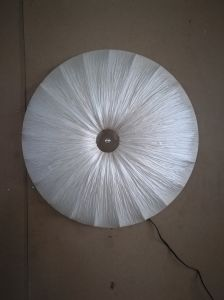 Round Shade Wrinkled Fabric Ceiling Lamp with 3 Sockets (C5006147) pictures & photos