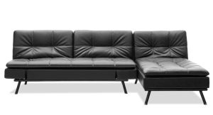 Classic Sofabed with Seperated Backrests and Stainless Steel Frame Legs pictures & photos
