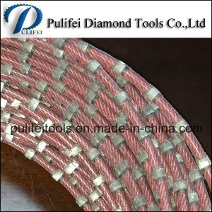 Diamond Wire Saw for Used Steel Stone Cutting Brazed Beads pictures & photos