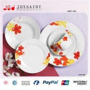 Hand Painted Design 18PCS Porcelain Ceramic Dinner Plate pictures & photos