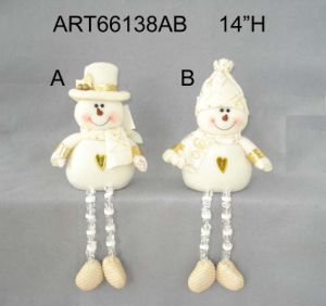Acrylic Legged Santa and Snowman Holiday Decoration, 2asst pictures & photos