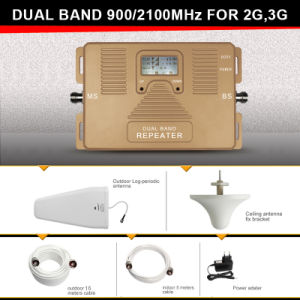 Dual Band 900/2100MHz Signal Repeater 2g 3G Mobile Signal Booster pictures & photos