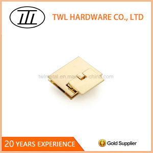 Common Light Gold Rectangle Flid Lock for Handbag, Purse, Bag pictures & photos