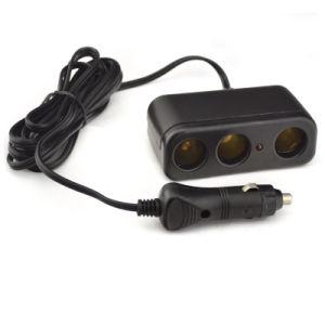 3-Socket Car Charger Adapter DC 12V/24V Outlet Multi-Functions Car Splitter pictures & photos