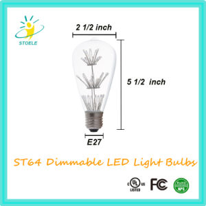 St64 Starry LED Bulb Squirrel Cage Incadescent Light Fireworks Bulb Wholesale pictures & photos