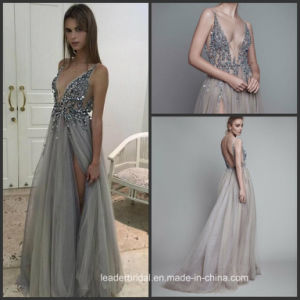 Split Party Gowns Sexy Tulle Beading Prom Cocktail Dresses Ra919 pictures & photos