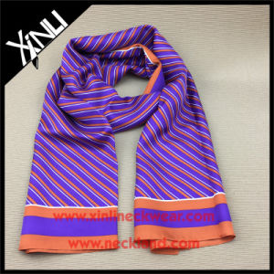 High Fashion Custom Long 100% Silk Printed Scarf pictures & photos