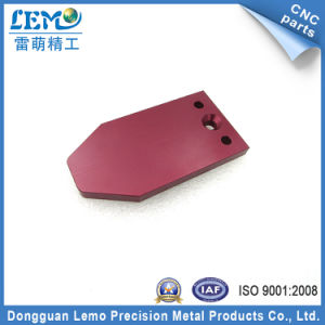 China OEM Red Anodized Aluminum Machined Parts for Automation Equipment pictures & photos