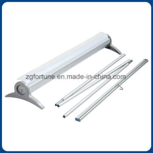 Display Equipment Narrow Grey Side Cover Type Roll up Stand pictures & photos