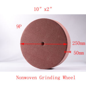 "10""X2"" 9p Nonwoven Wheel Non Woven Grinding Wheel Flap Disc pictures & photos"