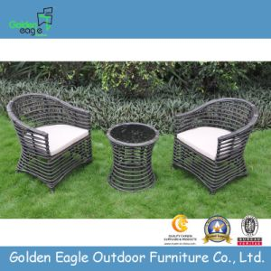 Rattan Furniture Big Round Rattan Balcony Set