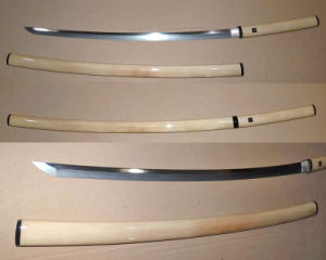 Handmade Folded Steel Shirasaya Katana Sword