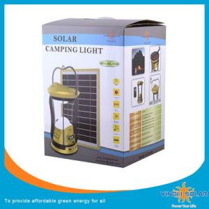 New Designed Solar Camping Light with Panels and Two Lamps pictures & photos