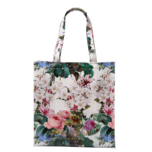 Retro Floral Printing Waterproof PVC Tote Bag (T001) pictures & photos