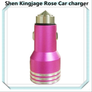 Auto Charger Stainless Steel Cellphone Car Charger