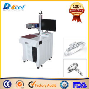 China Desktop Fiber Laser Marking Machine for Metal Ring pictures & photos