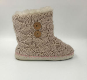 Lds Indoor Knit Slipper pictures & photos