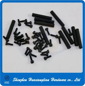 China Manufacture Hexagon Black White Nylon PCB Board Spacer pictures & photos