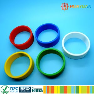 Logo Embossing FM08 1k RFID NFC Silicon Wrist Band pictures & photos