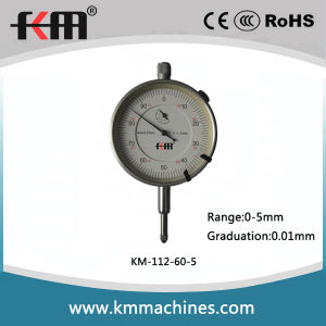 High Quality Precision 0-5mm Dial Indicator with Silver Bezel pictures & photos