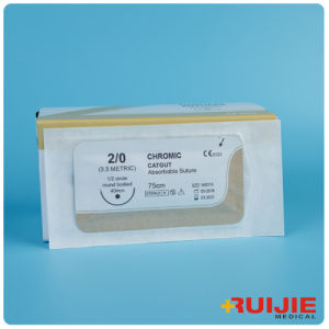 Chromic Catgut Absorbable Surgical Suture with Needle pictures & photos