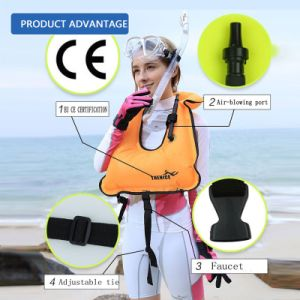 Unisex Adult Portable Inflatable Canvas Life Jacket Snorkel Vest for Diving Safety pictures & photos