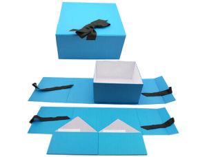 Elegant Printed Fodable Cardboard Gift Packaging Box pictures & photos