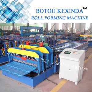1080 Kexinda Glazed Tile Double Deck Roll Forming Machine pictures & photos