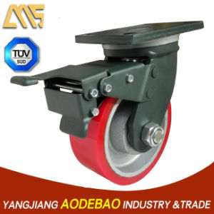 Extra Heavy Duty Double Brake PU Caster Wheel pictures & photos