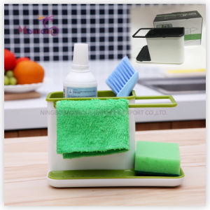 Home Storage Plastic PP Kitchen Multi-Function Sponge Dishcloth Holder 21.5*12*13.5cm pictures & photos