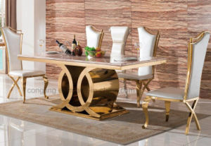 Modern Design 8 Seater Marble Dining Table pictures & photos