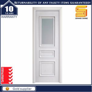 Solid Wooden Glass Panel Kitchen Door for House pictures & photos