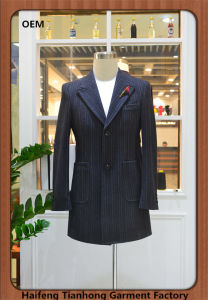 Wholesale Long Casual Jacket Hot Selling Striped Men Jacket Blazer