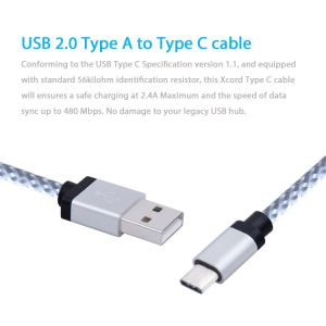 Wholesale Good Quality USB 3.1 Extra Long Nylon Braided Type C Cable pictures & photos