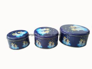 Wholesale Circular Shaped Candy Packaging Tin Box
