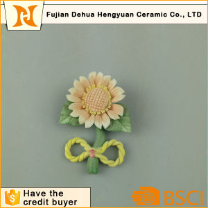 Porcelain Flowers for Crafts Ceramic Sunflower for Wedding Decoration pictures & photos