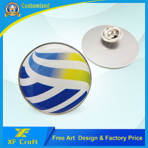 Professional Custom Silk Screen Lapel Pin /Cmyk Logo Pin Badge for Souvenir (XF-BG26) pictures & photos