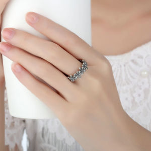 Flowers White Gold Plated Finger Rings Jewelry for Women with Ring pictures & photos