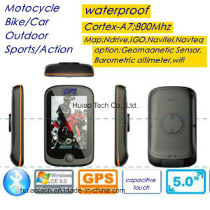 "New 3.5"" 320*480 Capacitive Touch WiFi Waterproof IP65 motorcycle Bike Car Portable GPS Navigator with Wince 6.0, Cortex-A7, 800MHz CPU, Bluetooth Set pictures & photos"