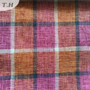 The Most Fashionable Grid Stripe Linen Fabric for Sofa (FTD31107) pictures & photos