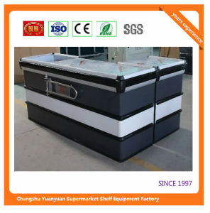 Supermarket Retail Stainless Cash Counter with Conveyor Belt 1045