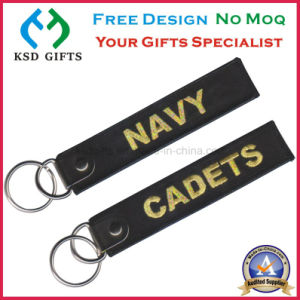 Personalized Bikershop Cheap Embroidery Woven Keychain Manufacturers pictures & photos