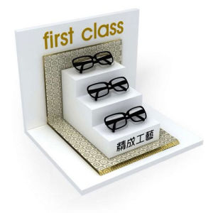First Class White Acrylic Eyeglass Display, Acrylic Glass Display Holder pictures & photos