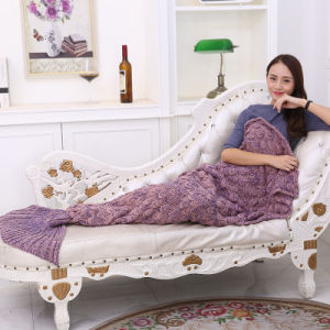 Wholesale Crochet Handmade Knitted Mermaid Tail Blanket Dresses Sleeping Bag pictures & photos