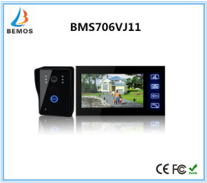 7 Inch Hands Free 4 Wires Color Video Doorphone with Camera pictures & photos